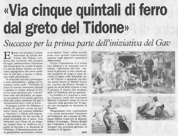 La Cronaca 11 agosto 2009
